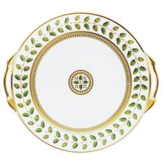 "Bernardaud Constance Cake Plate With Handles - Round 11"""