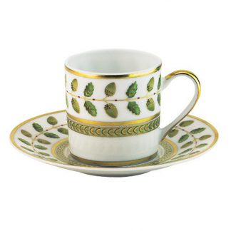 Bernardaud Constance Coffee Cup And Saucer