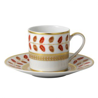 Bernardaud Constance Rouge Coffee Cup And Saucer