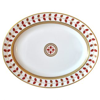 """Bernardaud Constance Rouge Oval Platter 13"""""""