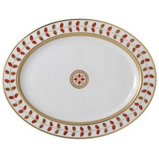 """Bernardaud Constance Rouge Oval Platter 15"""""""