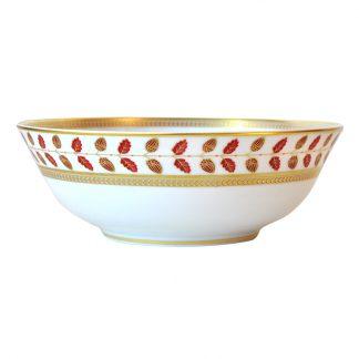 """Bernardaud Constance Rouge Salad Bowl 10"""""""