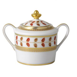 Bernardaud Constance Rouge Sugar Bowl