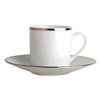 Bernardaud Cristal Coffee Cup Saucer