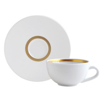 Bernardaud Cronos Or Coffee Cup And Saucer
