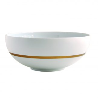 "Bernardaud Cronos Or Salad Bowl 8"" 34 Oz"