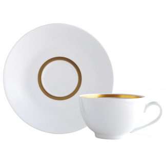 Bernardaud Cronos Or Tea Cup And Saucer