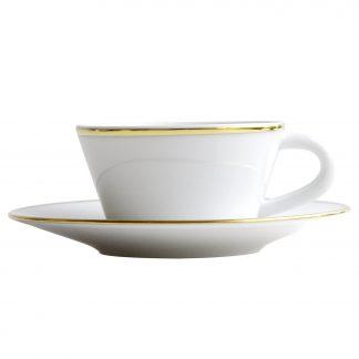 Bernardaud Duo Or Coffee Cup & Saucer 2 Oz