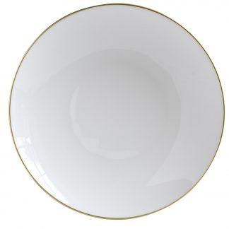 "Bernardaud Duo Or Deep Round Dish 11.4"""