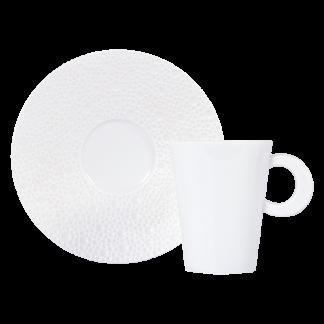 Bernardaud Ecume White Coffee Cup Saucer
