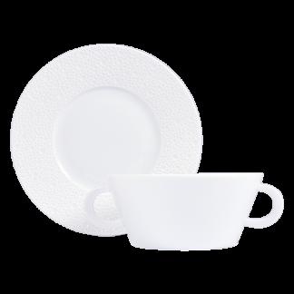 Bernardaud Ecume White Cream Cup And Saucer
