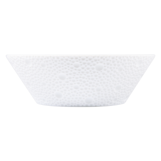 Bernardaud Ecume White Fruit Saucer/High Candy Dish