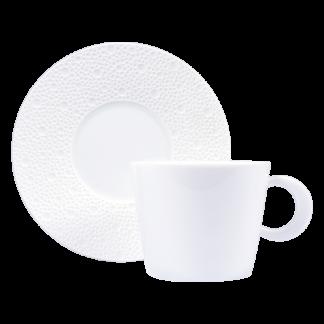 Bernardaud Ecume White Tea Cup Saucer