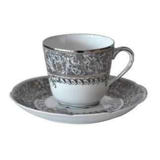 Bernardaud Eden Platine Coffee Cup And Saucer