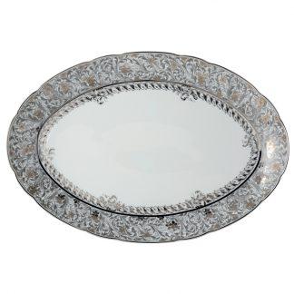 "Bernardaud Eden Platine Oval Platter 15"""