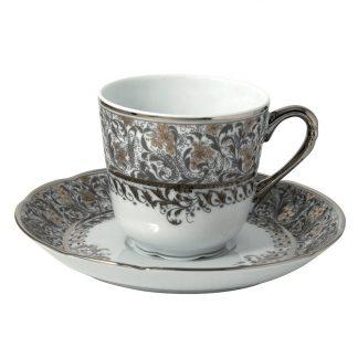 Bernardaud Eden Platine Tea Cup And Saucer