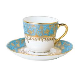 Bernardaud Eden Turquoise Coffee Cup Saucer