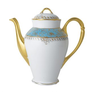 Bernardaud Eden Turquoise Coffee Pot 12c