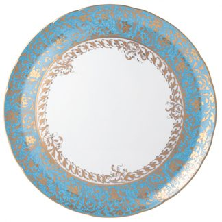 "Bernardaud Eden Turquoise Deep Round Dish 11.5"""