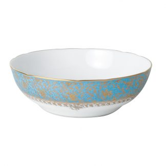 Bernardaud Eden Turquoise Open Vegetable Bowl 9.5""