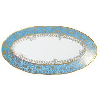 "Bernardaud Eden Turquoise Relish Dish 9"" X 5"""