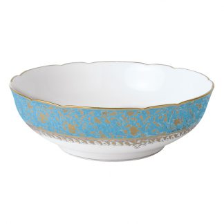"Bernardaud Eden Turquoise Salad Bowl 10"""