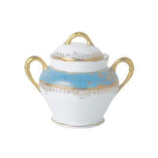 Bernardaud Eden Turquoise Sugar Bowl 6c