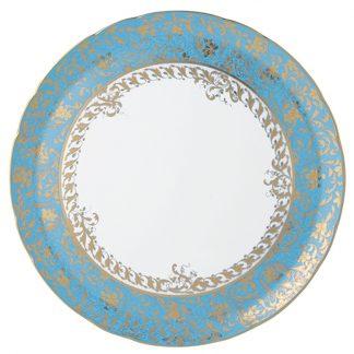 "Bernardaud Eden Turquoise Tart Platter - Round 13"""