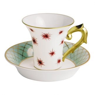 Bernardaud Etoiles Coffee Cup Saucer