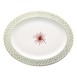 "Bernardaud Etoiles Oval Platter 13"""