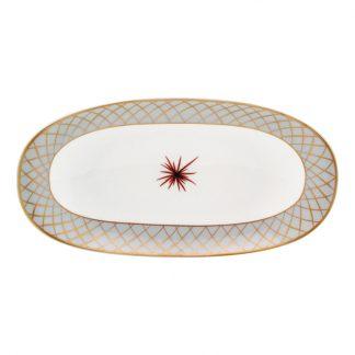 """Bernardaud Etoiles Relish Dish 9"""" X 5"""""""