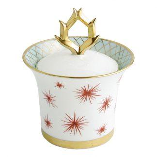 Bernardaud Etoiles Sugar Bowl / Covered Box (Arabesque Shape) 8.5oz