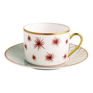 Bernardaud Etoiles Tea Cup Saucer