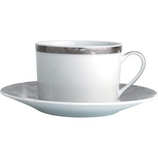 Bernardaud Feuille D'argent Tea Cup And Saucer