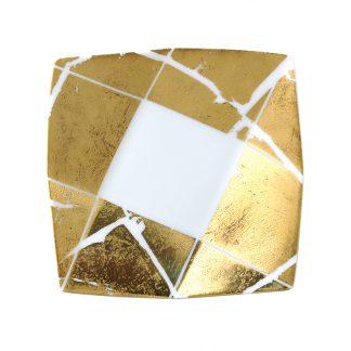 "Bernardaud Feuille D'or Cavanna Tray Small 4.5"" X 4.5"""