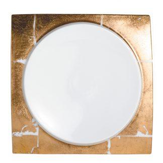 """Bernardaud Feuille D'or Dinner Plate 10.6"""""""