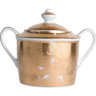 Bernardaud Feuille D'or Sugar Bowl 6c