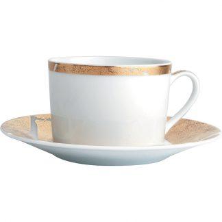 Bernardaud Feuille D'or Tea Cup And Saucer