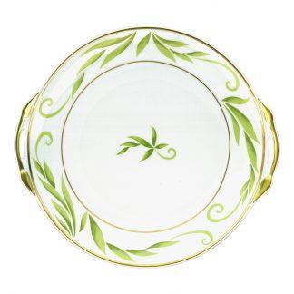 "Bernardaud Frivole Cake Plate With Handles - Round 11"""