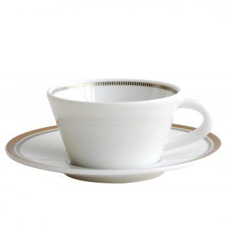 Bernardaud Gage Coffee Cup & Saucer 2 Oz