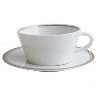 Bernardaud Gage Tea Cup & Saucer 5.7 Oz