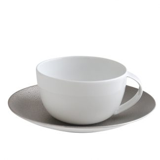 Bernardaud Gouttes D'argent Tea Cup And Saucer