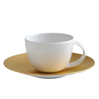 Bernardaud Gouttes D'or Coffee Cup And Saucer