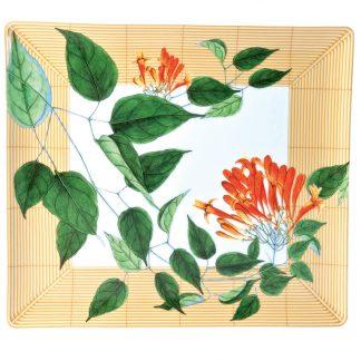 "Bernardaud Jardin Indien Rectangular Tray 10.4 X 9.3"""