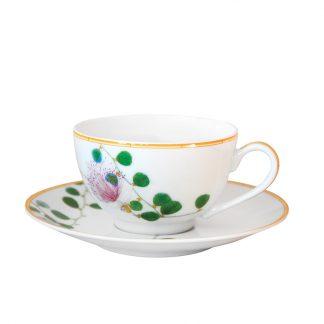 Bernardaud Jardin Indien Tea Cup Saucer 5.1 Oz