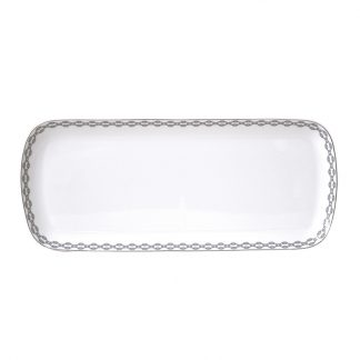 Bernardaud Loft Cake Platter Rectangular 15in