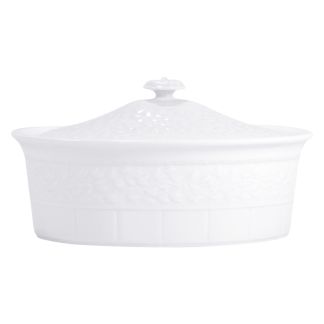 "Bernardaud Louvre Casserole With Cover - Oval 11"" X 8"" (2qt)"