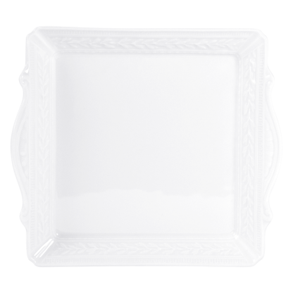 "Bernardaud Louvre Square Handled Tray 9.5"" X 9.5"""