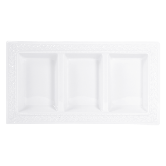 "Bernardaud Louvre Three-Compartment Tray 7"" X 13"""