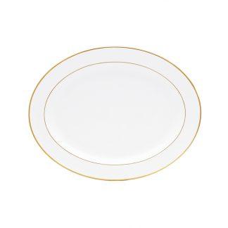 "Bernardaud Palmyre Oval Platter 15"""